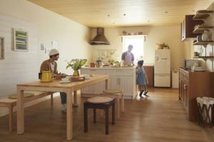 キッチン ウッドワン スイージ 無垢 木 ぬくもり