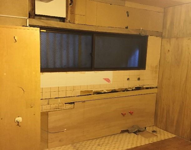 キッチン 解体 下地