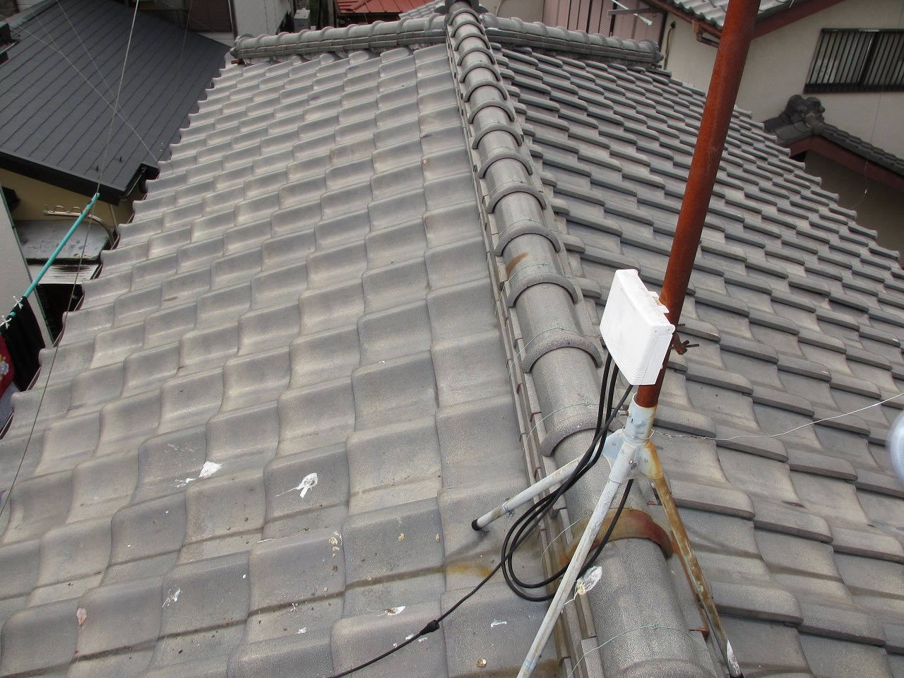 藤沢市,高倉,屋根,葺き替え,瓦,横暖