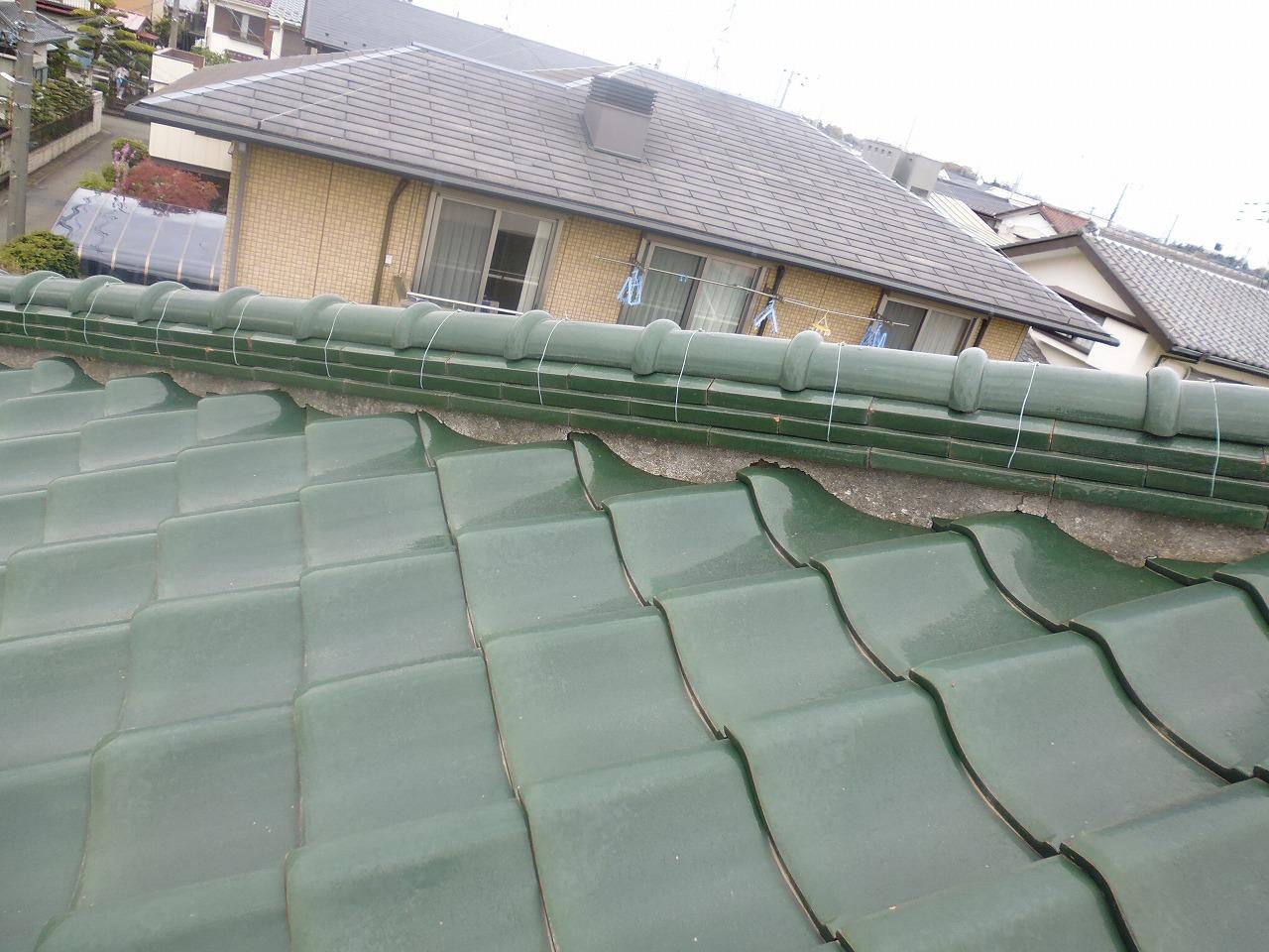 横浜,リフォーム,雨漏れ,瓦,漆喰