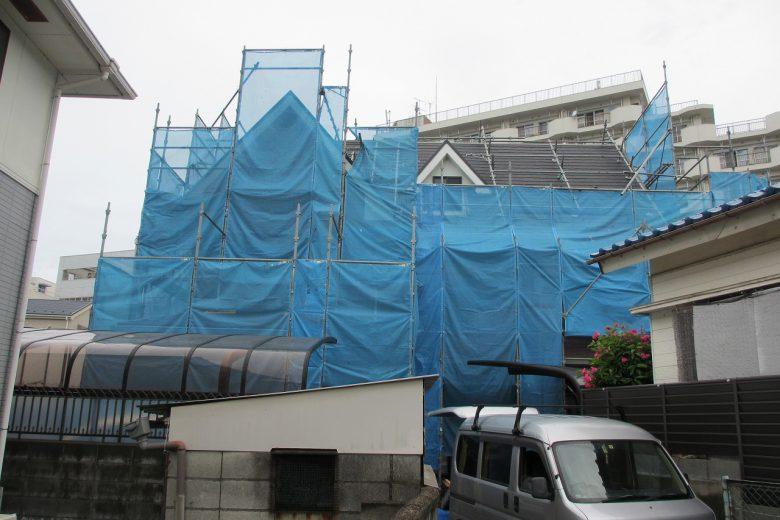 横須賀,追浜東町,塗装,リフォーム,屋根足場